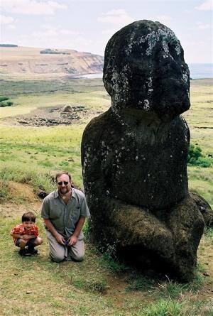 Easter Island Sitting Moai