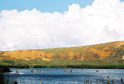 Easter island canoe race