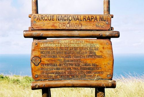 Easter Island Park Sign