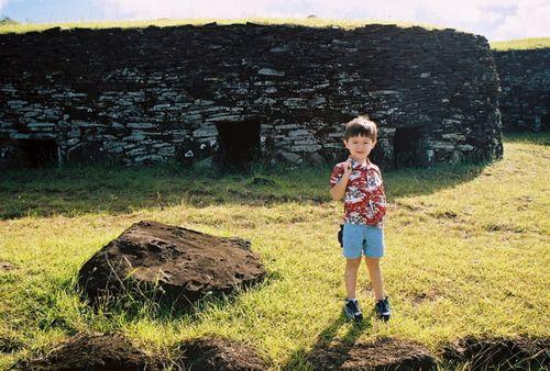 Easter Island Alex Stone Huts