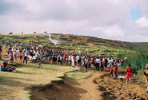 Easter Island Race Crowd