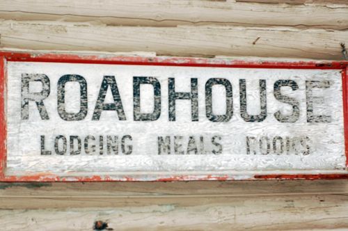 Roadhouse sign