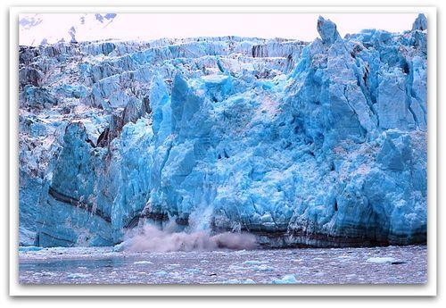 Glacier calving close