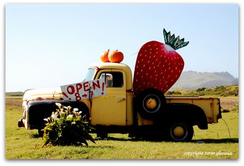 Strawberry truck