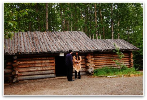 Athabascan Men's Log House