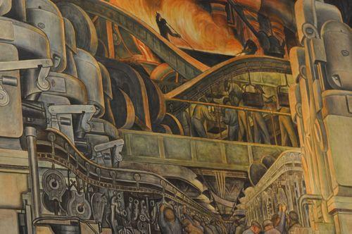 Diego Rivera Rouge Plant Mural Detroit