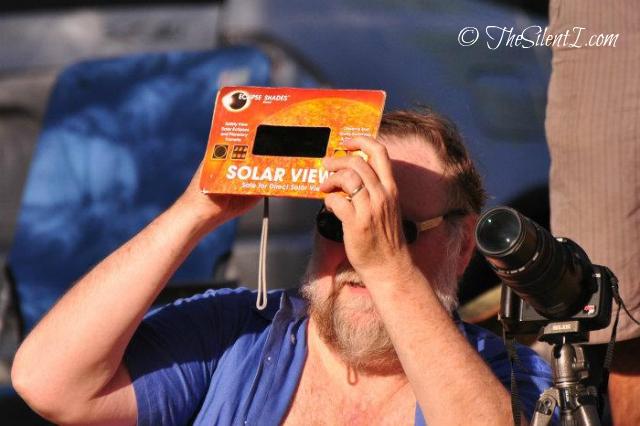 Frank Watching Eclipse