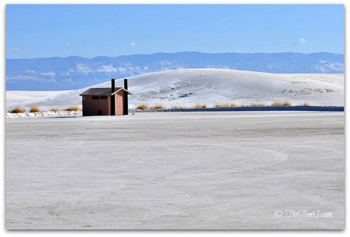 White Sands National Monument Outhouse